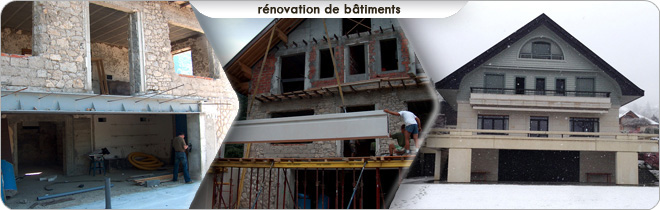 Rénovation maison, batiment
